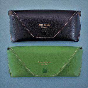 KATE SPADE ~ 2 Sunglasses Cases!  Black & Green!
